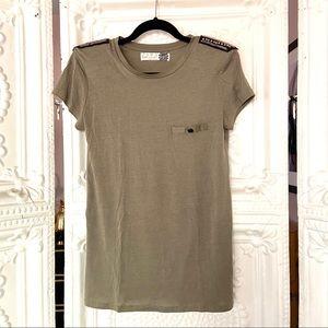Zara Army Green Military Style T-Shirt